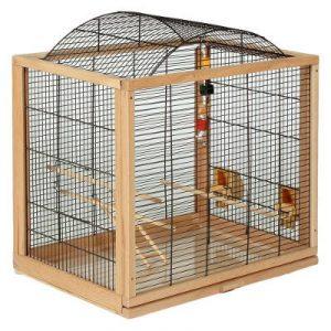 Gabbia in legno per canarini e uccelli.
